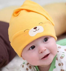 Infant cotton knot hat - Yellow