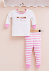 2-piece snug fit cotton pajama - Cupcake