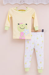 2-piece snug fit cotton pajama - Frog