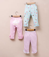 girl cotton pants cupcake