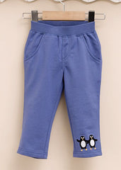 boy cotton pull on pants penguin