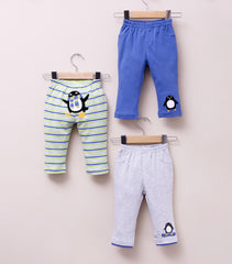 3-pack Baby Boy Cotton Pants - Penguin