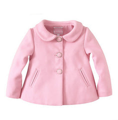 Girl pink peter pan collar coat