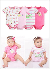 4-pack short-sleeve bodysuits gift set - Fairy