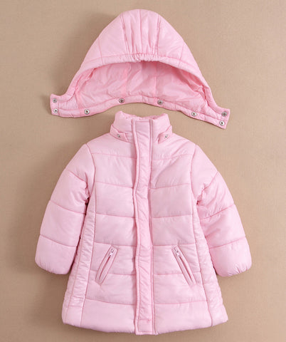 Children quilted puffer jacket - Pink