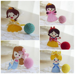 Handmade princes ponytail holder