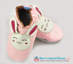 Baby girl soft sole leather shoes - Bunny