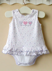 Baby girl dress romper - Purple heart