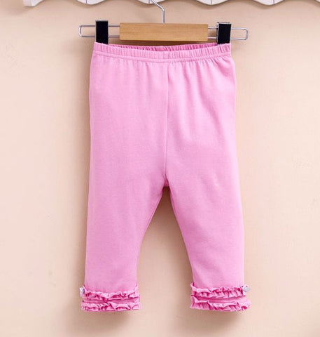 Girls ruffle leggings - Pink