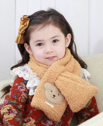children teddy bear scarf brown