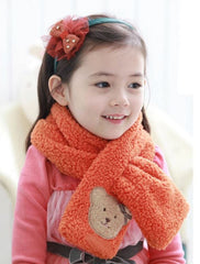Children teddy bear scarf - Orange