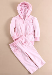 Baby girl/girl velour track suit - Bunny