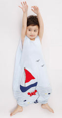 Toddler sleeping bag (age 1-6) - Sailboat