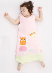Toddler sleeping bag (age 1-6) - Pink owl