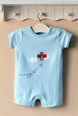 Baby boy sleeveless romper - Airplane
