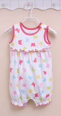Baby girl butterfly sunsuit