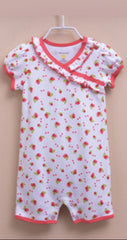 Baby girl cherry sunsuit