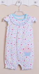 Baby girl cupcake sunsuit