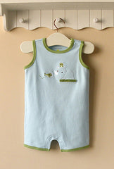 Baby boy romper - Rhino and frog