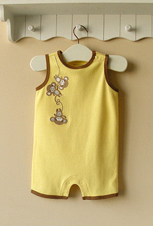 Baby boy sleeveless romper - Monkey