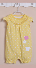 Baby girl yellow floral sunsuit