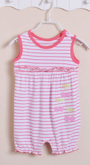 Baby girl cherry stripe sunsuit