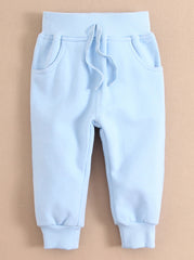 Baby/Toddler ribbed cuffs sweatpants - Blue