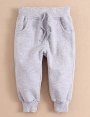 Baby/Toddler ribbed cuffs sweatpants - Grey