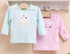 2-pack Baby Long-sleeves Tee - Cupcake