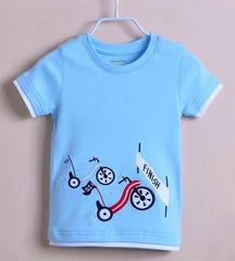 Boy motorcycle tee