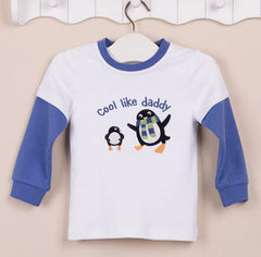 Boys long-sleeves tee - Cool like daddy penguin