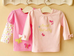 2-pack Baby Long-sleeves Tee - Pink