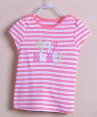 Girls' stripe tee