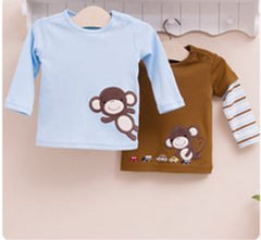 2-pack Baby Long-sleeves Tee - Monkey