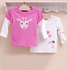 2-pack Baby Long-sleeves Tee - Giraffe