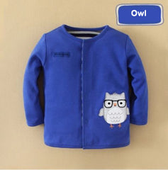 Boy reversible sweatshirt owl