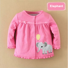 Girl reversible sweatshirt elephant