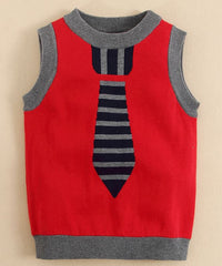 baby boy Sweater vest with tie