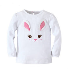 kids girl bunny rabbit tee