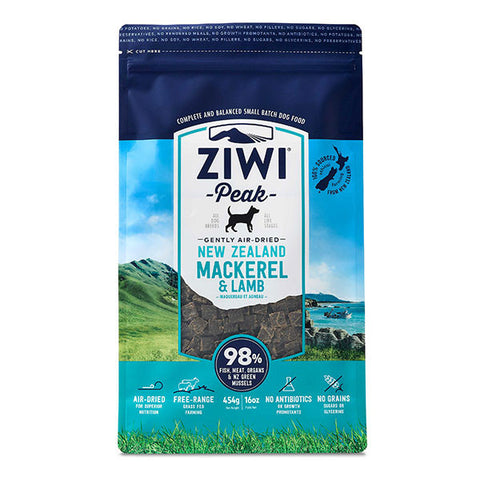 Ziwi Peak - Daily Dog Air Dried Mackerel & Lamb - 454g pouch
