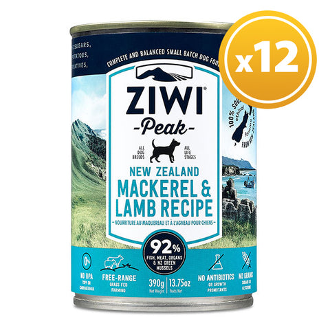 Ziwi Peak - Daily Dog Canned Mackerel & Lamb 390g
