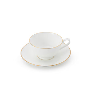 The Allingham Gold Tea Collection – Set of 6 Cups & Saucers in Fine Bone China