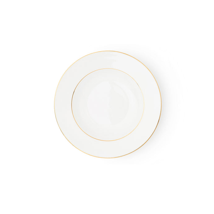 The Allingham Gold Tableware Collection – Set of 6 Soup Plates in Fine Bone China