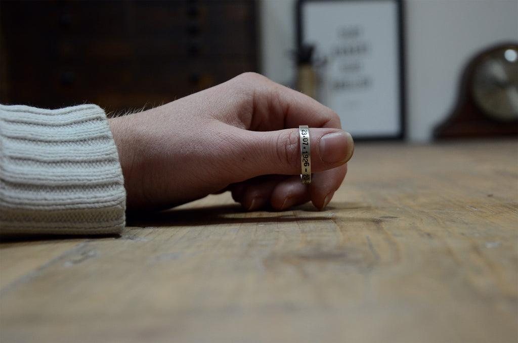 Personalised Text Ring