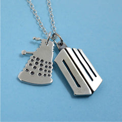 bespoke jewellery dr who dalek necklace