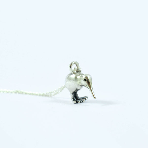 bespoke jewellery kiwi bird necklace