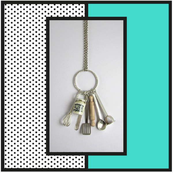 kitchen utensil necklace