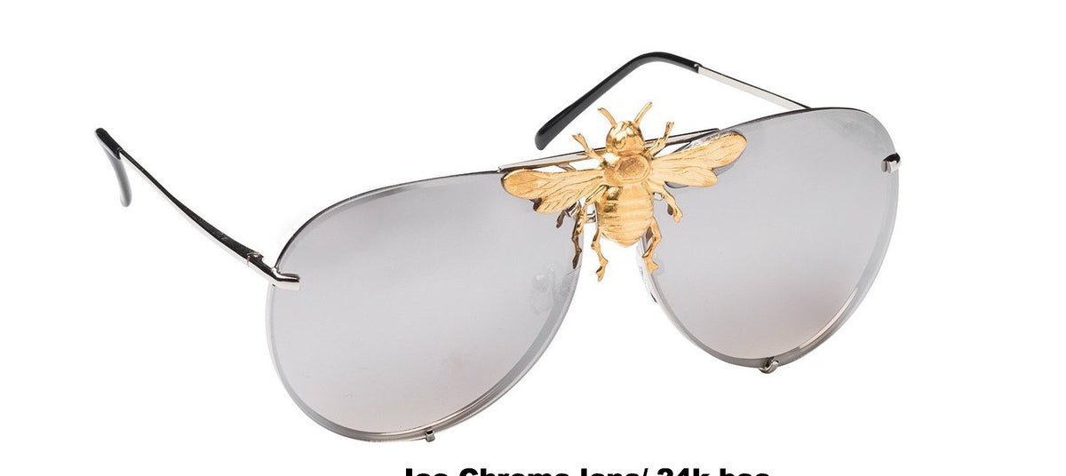 I'll Be Rich Forever Bee Sunglasses - Mirror Luxe Edition