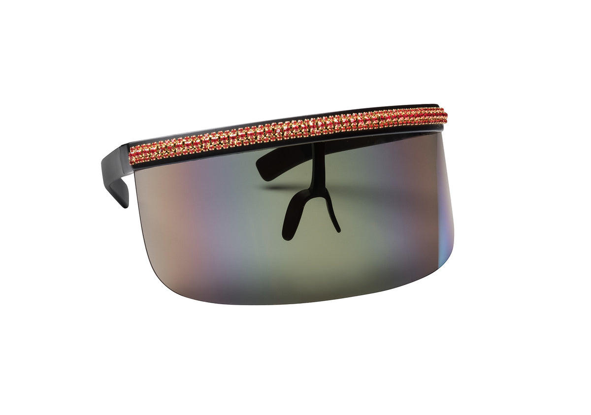 SHOW OFF IN CHERRY PAVE CRYSTAL  SUNNIES + OPTICS Sunglasses Collection, Tnemnroda man- NRODA