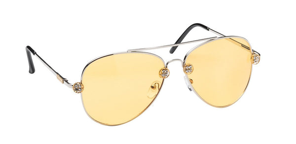 The Perfect Aviator - Cali Chrome Yellow Lens  SUNNIES + OPTICS TNEMNRODA- NRODA